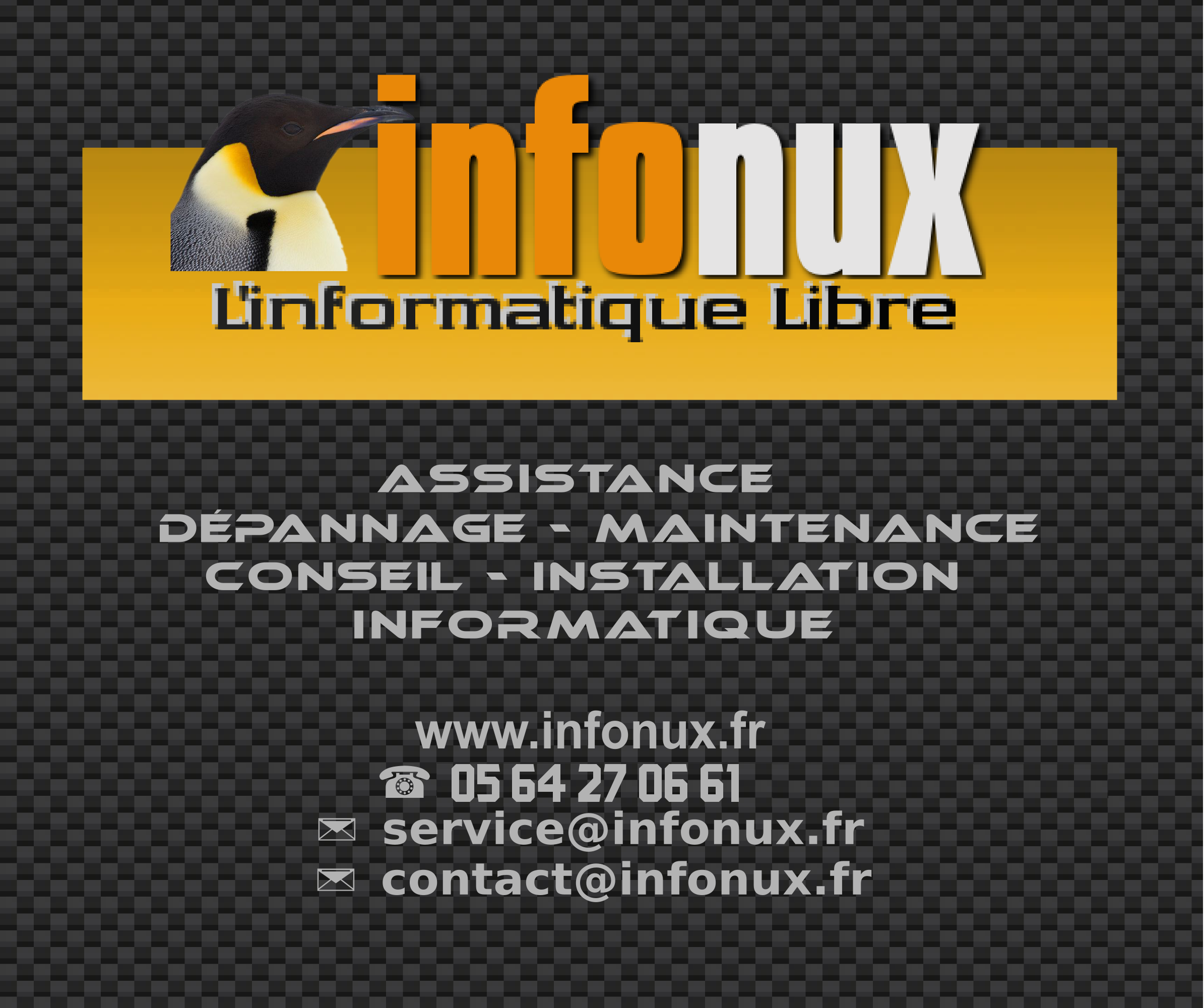 INFONUX  Assistance et Dépannage Morlaas informatique. Installation Site WEB