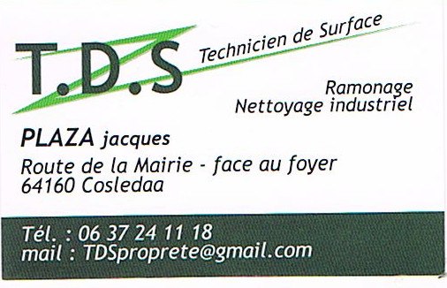 T.D.S Technicien de Surface Ramonage Nettoyage industriel